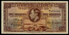 BERMUDA 5 SHILLINGS 1937 aVF KING GEORGE VI NICE BANKNOTE BRITIISH COLONY