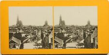 FRANCE Strasbourg Panorama, Photo Stereo Vintage Argentique