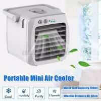 Desktop Air Cooler Fan USB Charging Travel Conditioner Portable Office AU