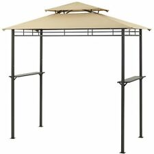 Outdoor Grill Gazebo BBQ Canopy Barbecue Shelter 8' x 4' Patio Yard Sun Shade