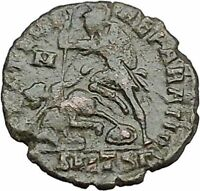 CONSTANTIUS II Constantine the Great son Ancient Roman Coin Battle Horse i40990