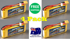 4 Pack ZIPPY COMPACT 1500mAh 3S 25C 11.1v XT60 LIPO Battery RC Plane Helicopter