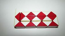 Vintage 1980s Red & White Rubiks Snake Puzzle Toy