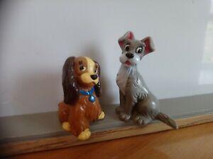 Figurines Belle et le clochard Bully Disney 1982