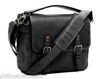 ONA Berlin II (Black) Leather Camera/Messenger Bag - Leica M System Designer Bag