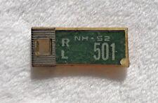 1952 NEW HAMPSHIRE DAV Keychain License Plate # RL 501