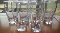 Libbey Glass Company Windswept 14 Oz glasses Tumblers 6 weighted flat bottom