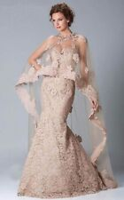Janique evening gown with lace cape