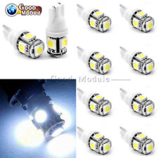 10PCS White Car Side Wedge Tail Light Lamp T10 5050 W5W 5 SMD 194 168 LED 12*30m