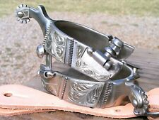 New ListingCowboy Western Men's stainless spurs With Leather Straps