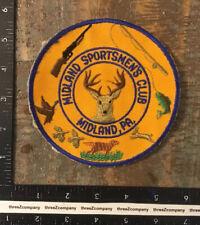 Vintage Midland Sportsmen's Club Pennsylvania Hunting Fishing Patch Twill