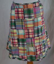 Lands End Size 12 Petite A Line Madras Plaid Skirt