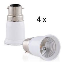 4x Lampen Sockel Adapter B22 Auf E27 Fassung Stecker Glühbirne Konverter Lampe