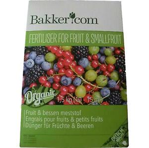 2 x 1,5 kg Bakker Früchtedünger Dünger für Früchte & Beeren Naturdünger 3 kg