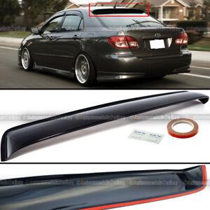 For 03-07 Toyota Corolla JDM Black Tinted Rear Window Roof Vent Visor Spoiler