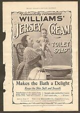 VINTAGE ADS FOR WILLIAMS' JERSEY CREAM TOILET SOAP, ADIRONDACK BALSAM & MORE