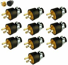 10 Male Extension Cord Replacement Electrical Plugs 15AMP 125V End