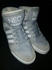 Gray and White Neo Adidas size 10.5