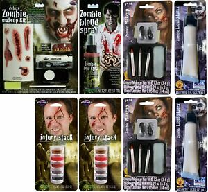 LOT OF 8 - Multi-Brand Horror Halloween Zombie SFX Makeup Kit Bundle | SEALED