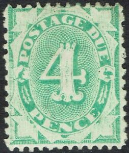 AUSTRALIA 1902 POSTAGE DUE 4D WMK CROWN/NSW INVERTED PERF 1.5,12 COMPOUND 11