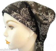 Cancer Chemo Hat Hair Loss Scarf Turban Alopecia Headwrap Black White Head Cover