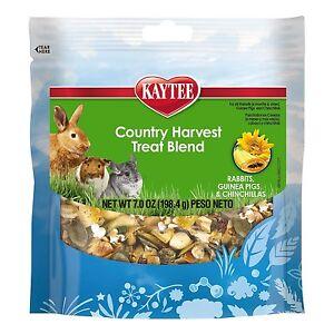 Kaytee Fiesta Country Harvest Blend Rabbit, Guinea Pig & Chinchilla Treats,7-oz