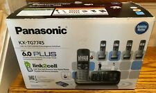 Panasonic KX-TG7745S Four Handsets Single Line Cordless Phone New (Other)