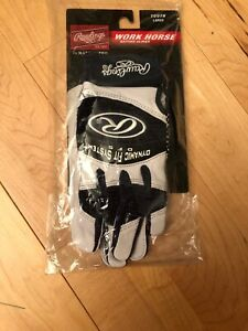 RAWLINGS WORK HORSE BATTING GLOVE SIZE YOUTH L Large COLOR Dark Purple