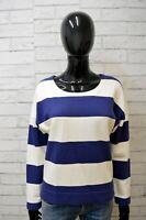 Maglione Lacoste Felpa Donna Taglia 36 L Pullover Sweater Cardigan Maglia Righe