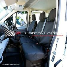 Ford TRANSIT Van Mk8 2014 Inc Tipper Tailored Front Seat Covers - Black 120