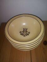 """Set of 4 Vintage Pfaltzgraff Village Soup Cereal Bowls 6 1/8"""""""