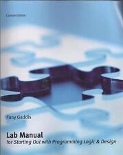 Lab Manual for Starting Out with Programming Logic
