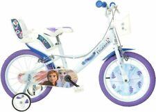 """Dino Bikes Disney Frozen II Bicicletta per Bambini 16"""" - Bianco/Viola"""