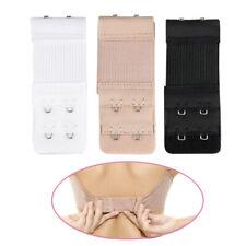 3pcs Womens Elastic Bra Lingerie Extenders 2-Hooks 2 Rows Extension Straps