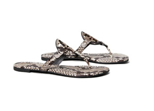Tory Burch NEW Miller Roccia Stamped Snake Print Leather Sandal $228 5 5.5 6 6.5