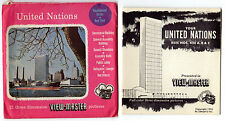 UNITED NATIONS New York NYC ViewMaster SAWYER'S 3 Reel Pack NO # 1955 w Booklet