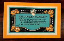 rare Artist Signed R.H. Lord HALLOWE'EN PALMISTRY Halloween Fantasy Postcard