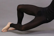 Collant caleçon long  noir plum Taille L  très doux transparent sexy Ref P43