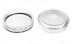 PACK OF 4 CLEAR CASTOR CUPS / GLIDERS FOR FLOOR PROTECTOR  LARGE SIZE 60MM ID