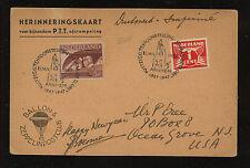 Netherland  nice  ballon  card  1947             MS0320