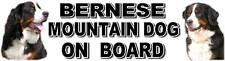 BERNESE MOUNTAIN DOG ON BOARD Car Sticker By Starprint