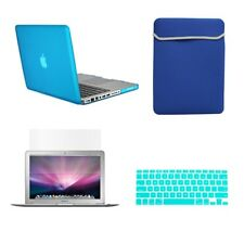 "4 in1 Rubberized AQUA Case for Macbook PRO 13""+Keyboard Cover + LCD Screen + Bag"