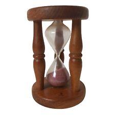 More details for vintage retro 1980's pine wood bobbin hour glass egg timer  kitchen decor 4 mins