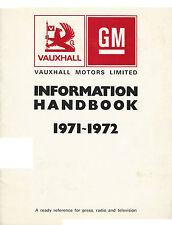 VAUXHALL INFORMATION HANDBOOK 1971 & 1972. 05.71 (UK)