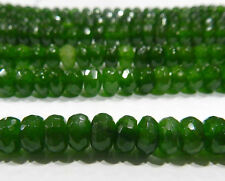 """5x8mm Faceted Emerald Abacus Loose Beads Gemstone 15"""""""