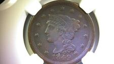 1849 Braided Hair Large Cent NGC XF Details