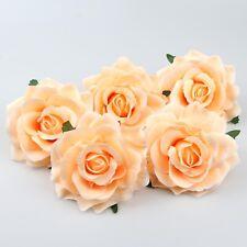 10XLarge Champagne Silk Rose Head Artificial Flowers DIY Hair Accessories Decor