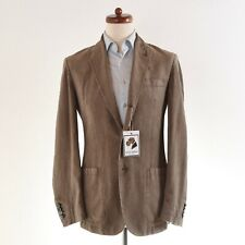 CORNELIANI ID Sakko Jacket Braun Brown Seersucker SOMMER Summer Natural Schulter