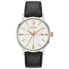 Bulova Men's Classic Collection Quartz Rose Gold Tone Markers 39mm Watch 98B254
