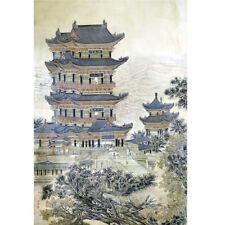 Wooden Jigsaw Puzzle 500 PCS Tengwang Pavilion Chinese Architecture Painting Art